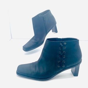 Etienne Aigner Saddle Ankle Boho Boots Leather 7.5
